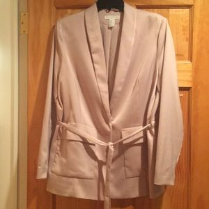 Pink H&M silky jacket   Never been worn
